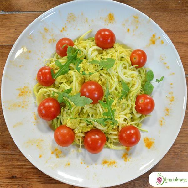 Sirove špagete u kukuruznom sosu